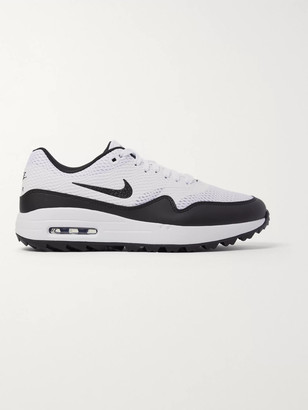 Nike Air Max 1g Faux Leather-Trimmed Coated-Mesh Golf Shoes