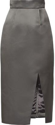 Miu Miu Silk Gabardine Pencil Skirt