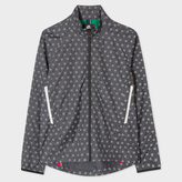 Paul Smith Men's Grey Ripstop Reflective 'Supernova' Spot Cycling Jacket With Travel Pouch