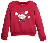 Karl Lagerfeld DJ Choupette Pullover Sweatshirt, Cranberry, Size 2-5