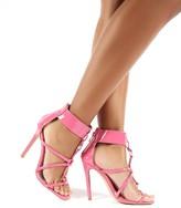 Public Desire Sahara Patent Strappy Stiletto Heels
