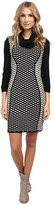 Christin Michaels Felicia Structured Knit Dress