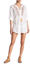 Romeo & Juliet Couture Embroidered Spit Neck Tunic Dress