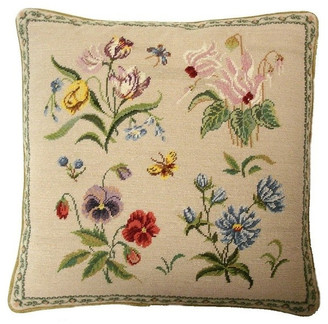Petit Point Hkh International Herbers Butterfly Pillow