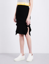 Opening Ceremony Split-seam stretch-jersey skirt