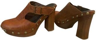 Free People Brown Leather Heels