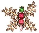 Oscar de la Renta Embellished Leaf Brooch