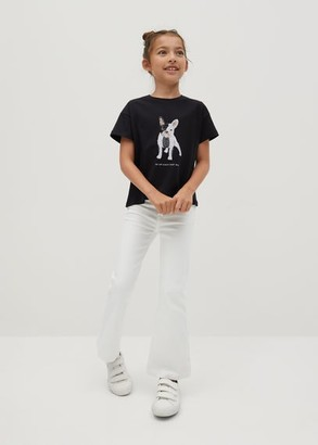 MANGO Reversible sequins dog T-shirt