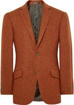 Richard James - Orange Slim-fit Harris Wool-tweed Blazer