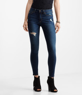 Seriously Stretchy Destroyed High-Waisted Dark Wash Jegging