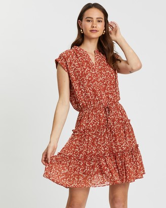 Atmos & Here Extended Sleeve Drawstring Dress