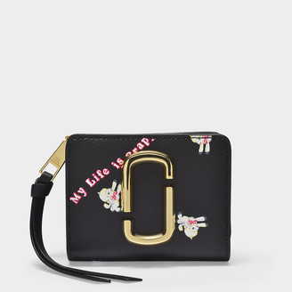 Marc Jacobs Mini Compact Wallet In Black Leather