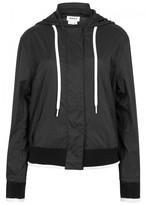 DKNY Black Hooded Shell Jacket