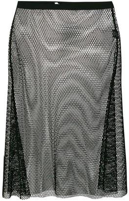 Helmut Lang Mesh Overlay Skirt