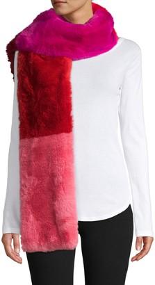 Jocelyn Colorblock Faux Fur Scarf