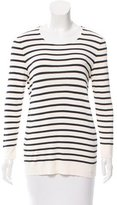 Tory Burch Striped Scoop Neck Sweater