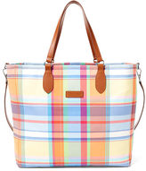 Ralph Lauren Madras Canvas Golf Tote