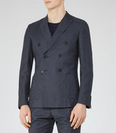 Reiss Reiss Alfred B - Double-breasted Blazer In Blue, Mens