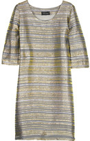 Striped Lurex tunic dress