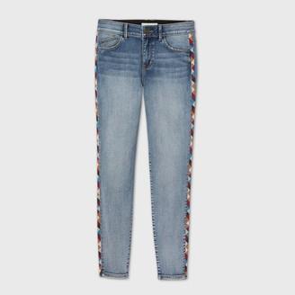 Knox Rose™ Women's Embroidered Mid-Rise Skinny Denim Pants - Knox Rose͐ Blue