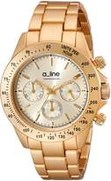 A Line A_Line Women's 20050-YG Amore Chronograph Tone Aluminum Watch