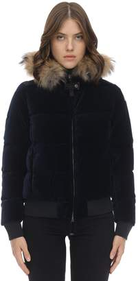 Parajumpers STEPHANY VELVET DOWN JACKET W/ FUR