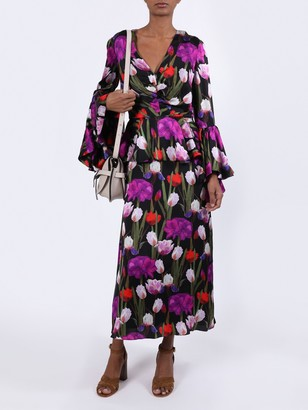 Borgo de Nor Floral Bell Sleeve Dress
