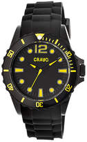Crayo Unisex Fierce Black & Yellow Strap Watch