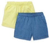 Wonder Nation Girls 4-18 & Plus Solid Woven Shorts, 2-Pack