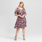 Ava & Viv Women's Plus Size Cold Shoulder Floral Dress