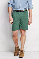 "Classic Men's 9"" Pleat Front Lighthouse Chino Shorts-Nautical Red"