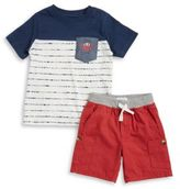 Kids Headquarters Little Boys Pocket Tee and Shorts Set