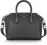 Givenchy Antigona Small Black Leather Satchel Bag