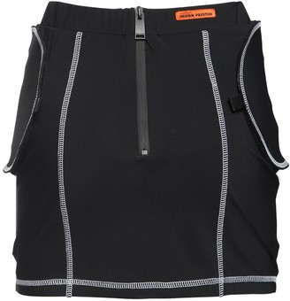 Heron Preston Stretch Jersey Mini Skirt W/belt Bag