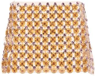 Miu Miu Cady bead-embellished miniskirt