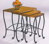 Coaster Home Furnishings 3Pc Traditional Nesting Table Set W/Iron Base In Rustic