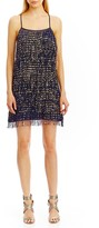 Nicole Miller Gold Fringe Party Dress