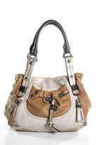 B. Makowsky Multi-Color Leather Silver Detail Stitched Medium Shoulder Handbag