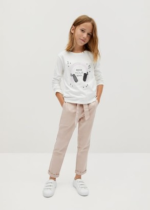 MANGO Organic cotton reversible sequins t-shirt