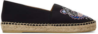 Kenzo Black Neoprene Classic Tiger Espadrilles