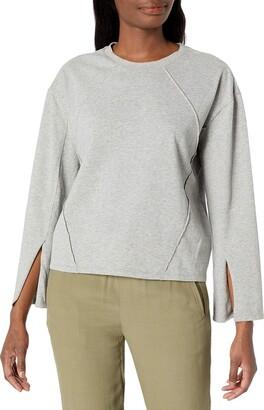 EVIDNT Women's Flared Sleeve Crewneck Sweatshirt