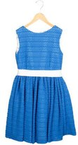 Helena Girls' Open Knit A-Line Dress