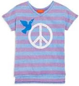 Butter Shoes Girls' Peace Sign & Dove Striped Tee - Big Kid