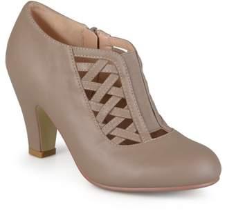 Brinley Co. Women's Round Toe High Heel Matte Booties