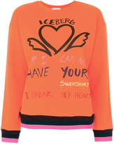 Iceberg heart embroidered sweatshirt