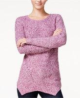 Kensie Marled Asymmetrical Sweater
