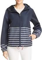 Vince Camuto Coated Striped Rain Jacket