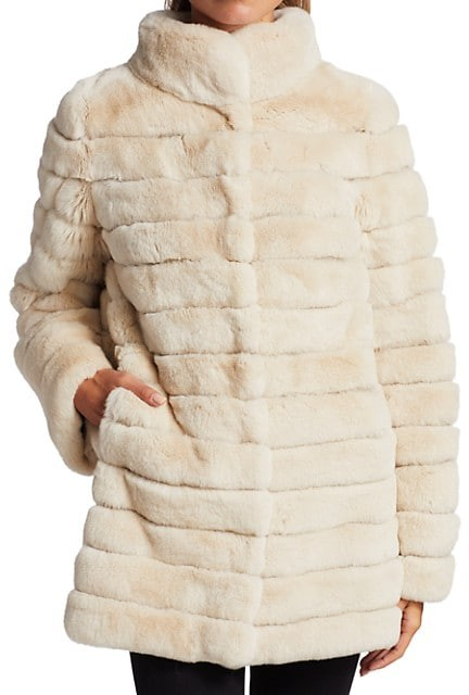 Thumbnail for your product : The Fur Salon Julia & Stella For Sectioned Rabbit Fur Jacket