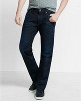 Express loose fit boot leg dark jeans