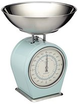 Kitchen Craft Living Nostalgia Mechanical Kitchen Scales, 4 kg (8 lbs) - Vintage Blue